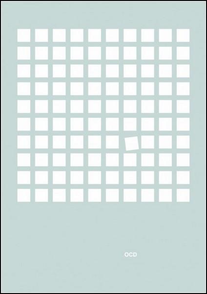 Постер-иллюстрация для обсессивно-компульсивного расстройства. Проект Mental disorder posters