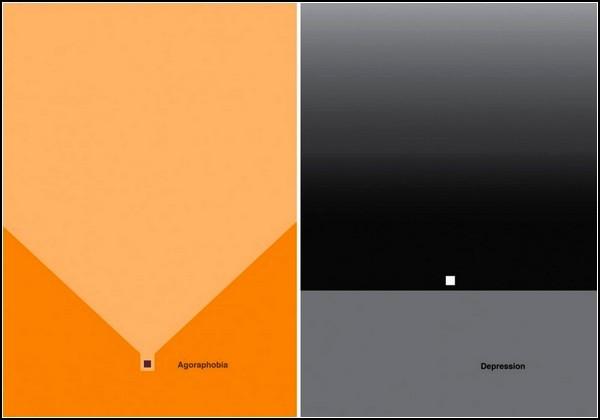 Серия минималистичных постеров Mental disorder posters