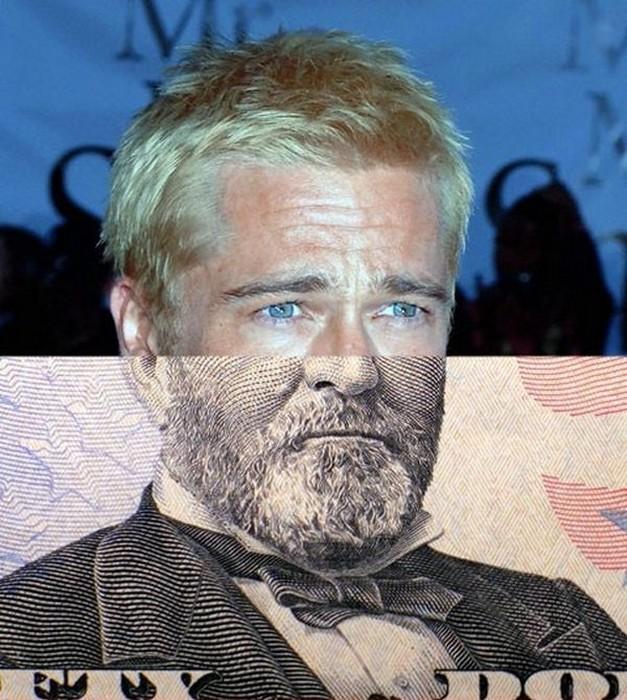 Брэд Питт на банкноте