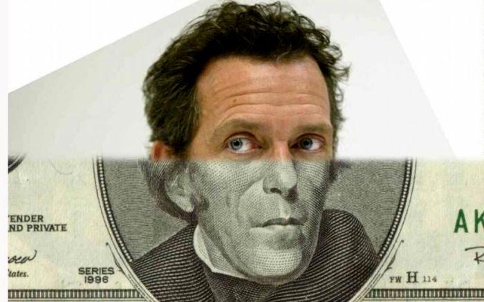 Хью Лори на банкноте