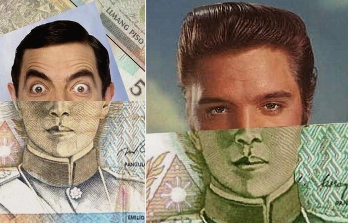 Знаменитости на дензнаках, юмористический арт-проект