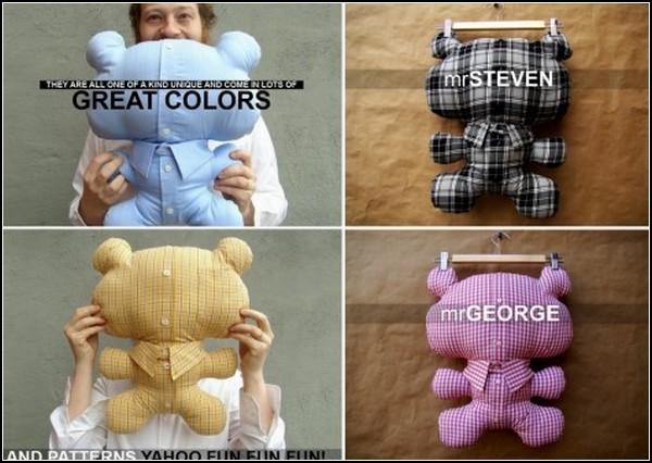 mr.Tedi, игрушки из мужских рубашек