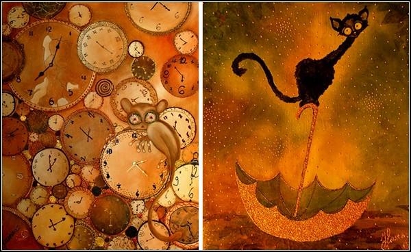 Симпатичные котики в творчестве Наты Ибрагимовой