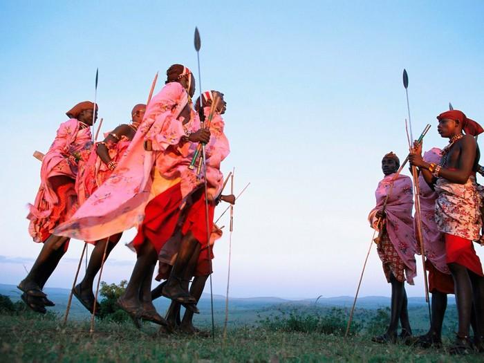 Maasai Men, Kenya