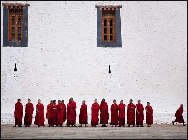 Monks, Bhutan