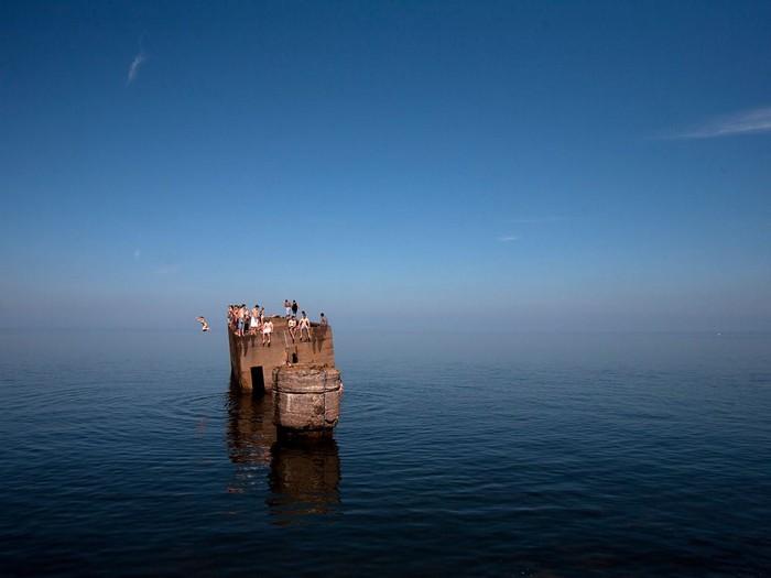 Swimmers, Lake Superior, Minnesota