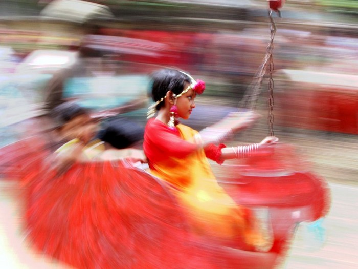 Girl on Swing, Bangladesh