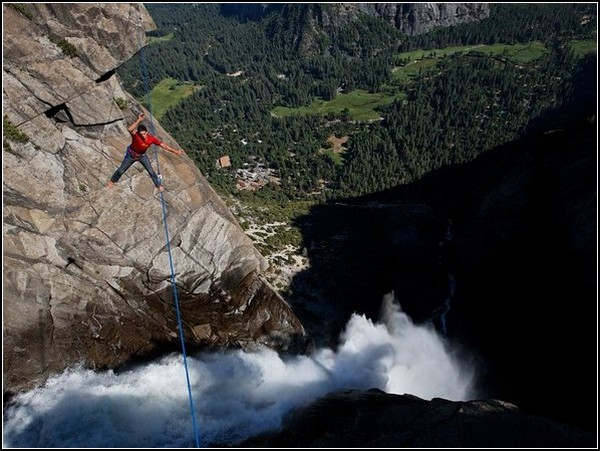 Highlining, Yosemite Falls