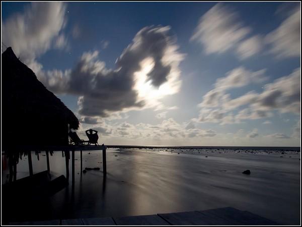 Moonrise, Caribbean Sea