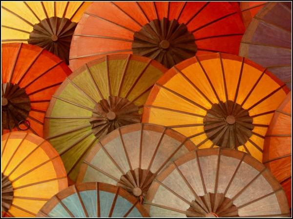 Colorful Umbrellas, Laos