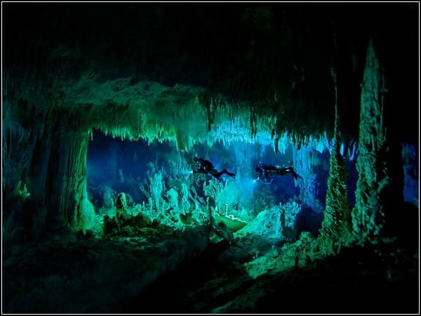 Underwater Cave, Bahamas