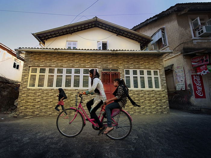 Cyclists, India