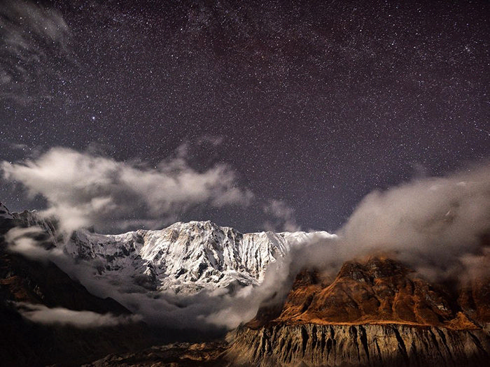 Moonlit Mountains, Nepal