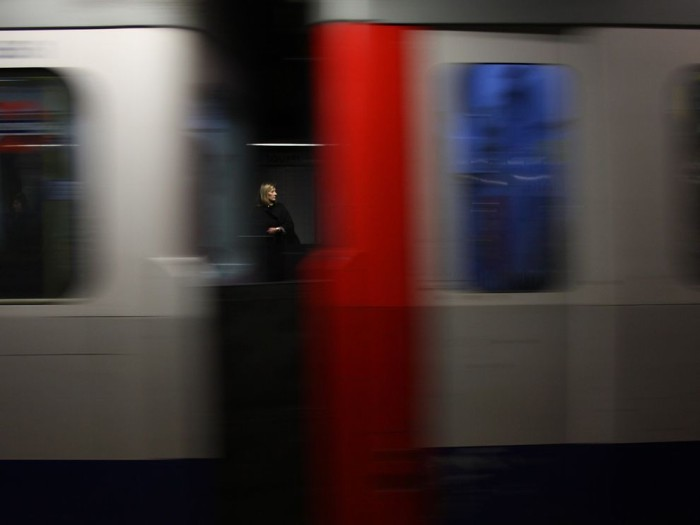 Woman, Train Platform