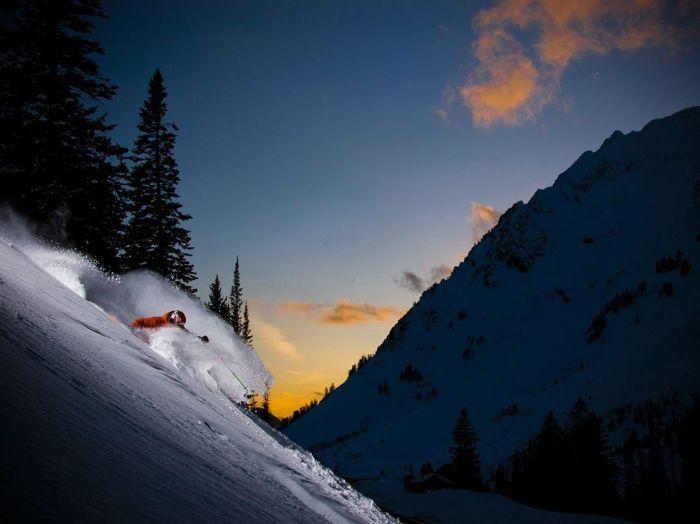 Sunset Skiing, Utah