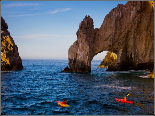 Kayakers, Land's End