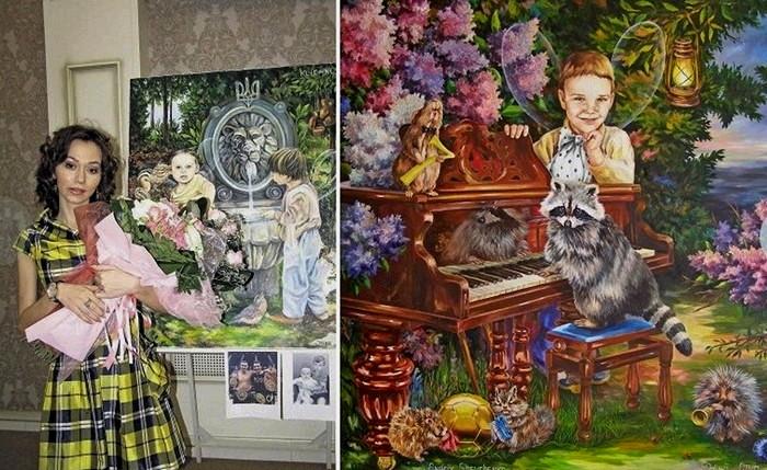 Знаменитости в детстве. Братья Кличко и Андрей Шевченко в виде сказочных эльфов