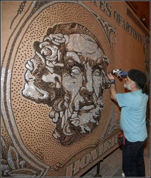 Пятая по счету рекордная работа албанского художника