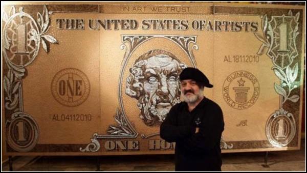 Портрет Гомера из 300 000 шурупов