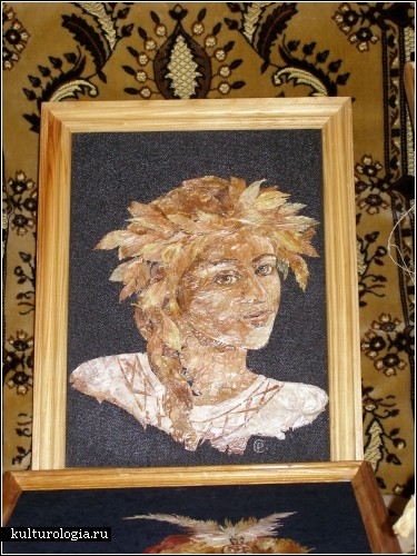 Портреты и пейзажи из шелухи лука и чеснока
