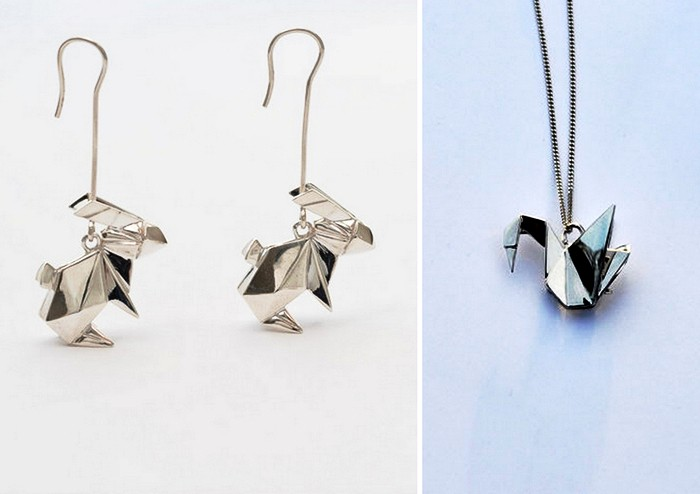 Украшения-оригами из золота и серебра. Серия Origami Jewellery от от Claire & Arnaud