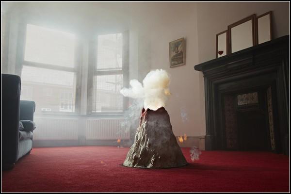 Домашний вулкан. Инсталляция Nelly Ben Hayoun