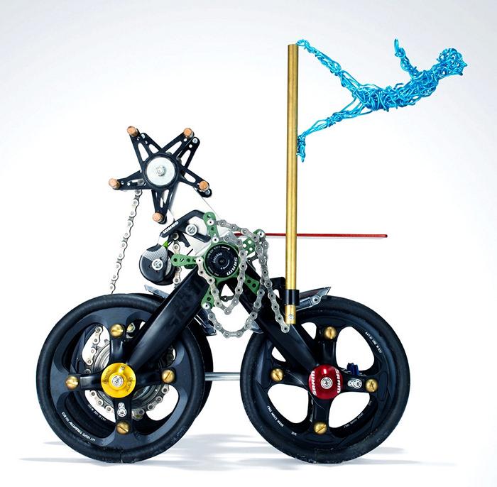Скульптуры из велосипедных деталей в арт-проекте pART Project