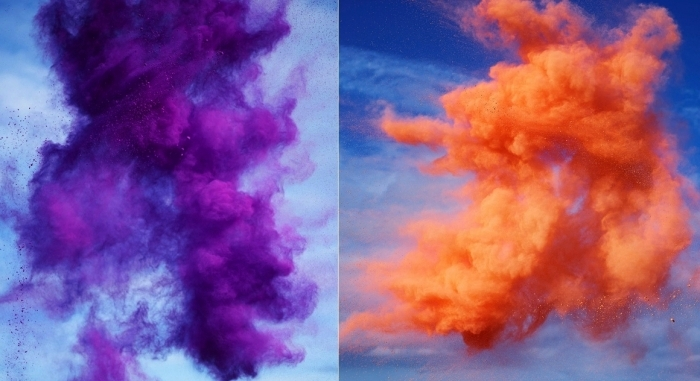 Paint Pigment Photographs, или взрывная цветотерапия в фотографиях