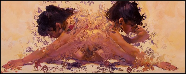 Женщины в цветах. Серия картин Painted Roses
