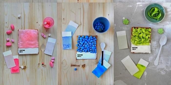 Аппетитный арт-проект в стиле Pantone. Тарталетки от Эмили Гельпа (Emilie Guelpa)