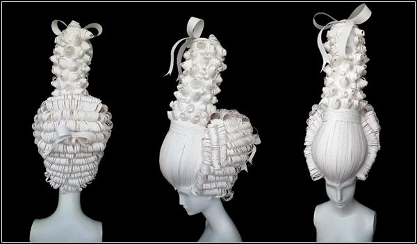Бумажные скульптуры-парики от Nikki Salk&Amy Flurry