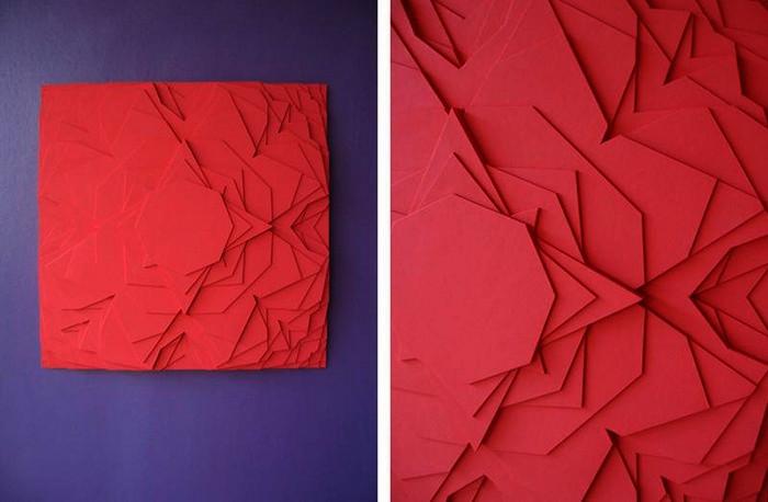 Яркие многослойные скульптуры из картона от Мо Вантур (Maud Vantours)