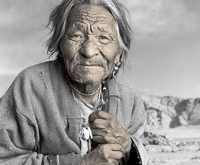 Цетен,81 год. Чогламсар, Ладак.
