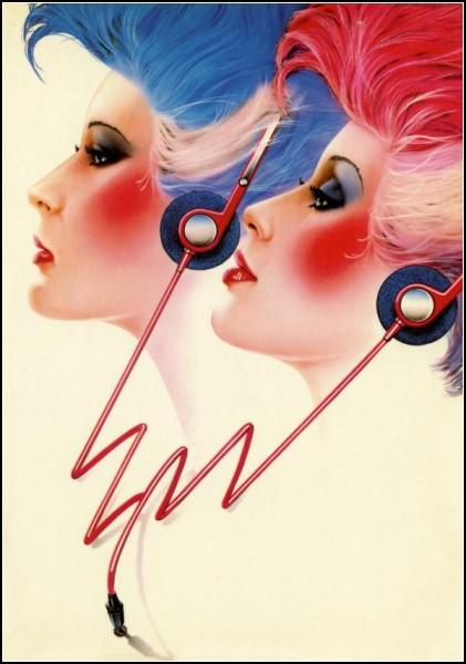 Гламурные панки из 80-х. Ретро-плакаты Сида Брака