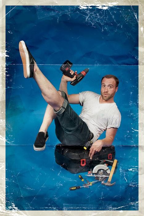 Мужской пин-ап в серии забавных плакатов Men-ups!