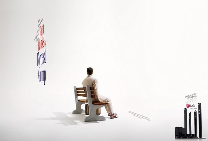 Постеры наоборот. Креативное представление LG  Theater 3D-System