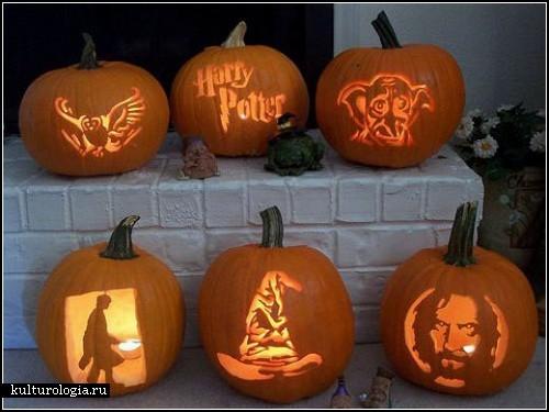 Рисунки на лице для детей на Хэллоуин.