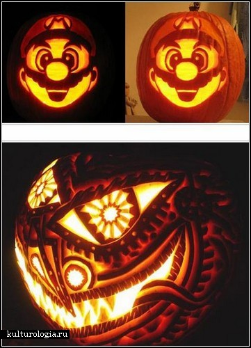Традиционный Pumpkin art ко Дню Всех Святых
