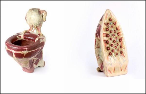 *Мясные* скульптуры Симона Рашели (Simone Racheli)
