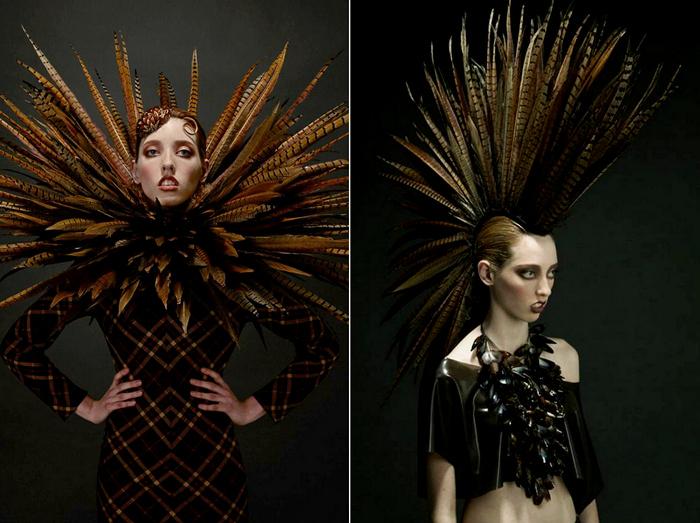Roadkill Couture Collection. Наряды из перьев мертвых птичек