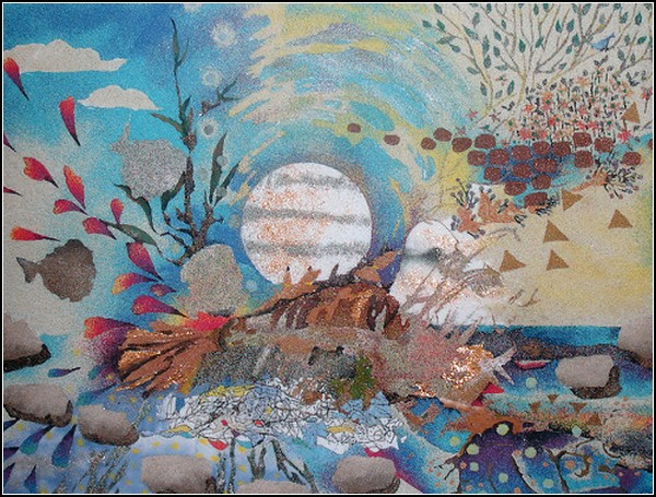 Песочные картины японской художницы Ако Цубаки (Ako Tsubaki)