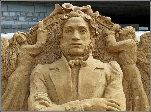 Александр Сергеевич Пушкин. Настоящий шедевр мирового искусства, изваянный из песка
