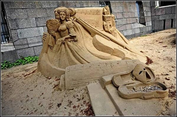 Песчаные *Музы Маэстро Паганини* от Сергея Целебровского и Сергея Заплатина