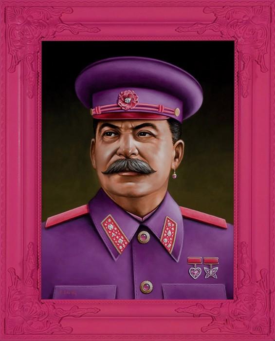 Провокационный имидж Иосифа Сталина на портрете от Скотта Шейдли