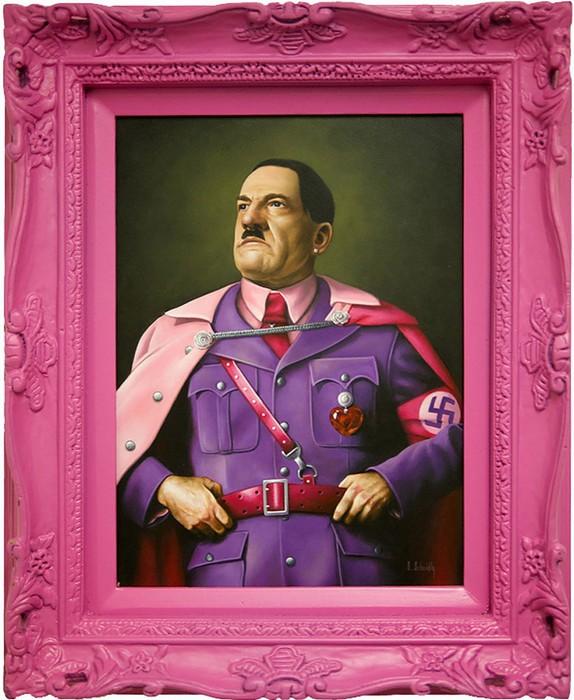 Гламурный портрет Гитлера в стиле поп-арт