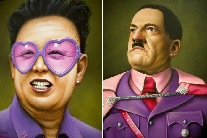 Провокационные портреты диктаторов и политиков от Scott Scheidly