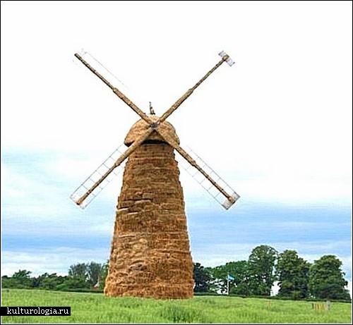 Скульптуры из сена. Автор - чеширский фермер Крис Сэдлер (Chris Sadler)