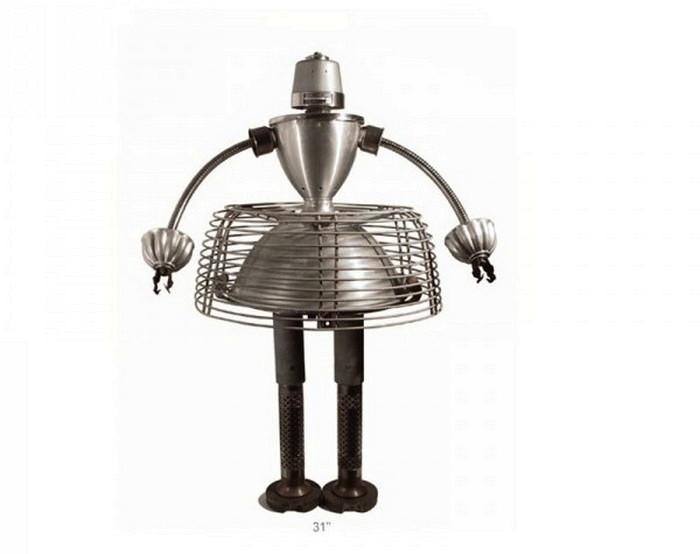 Роботы из металлического хлама, скульптуры Гордона Беннета