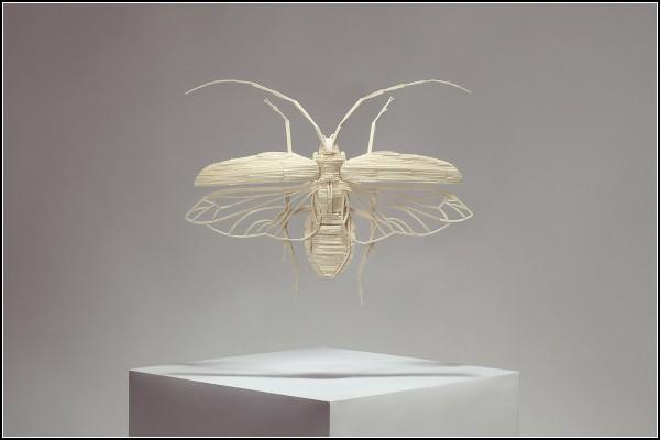 Бабочка из спичек.
