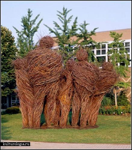 Stickwork. Скульптурные инсталляции из веточек и прутьев